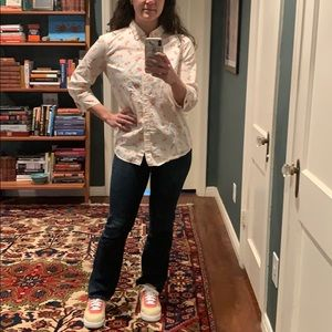 Anthropologie bicycle button up shirt